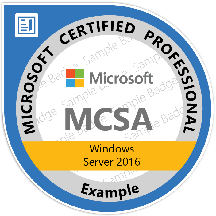 MCSA-Windows_Server_2016 Certificaat